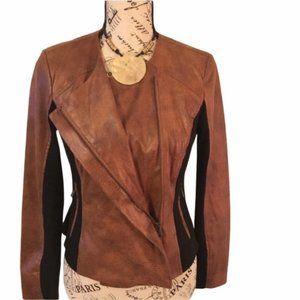 Csu crop camel color jacket size cx.